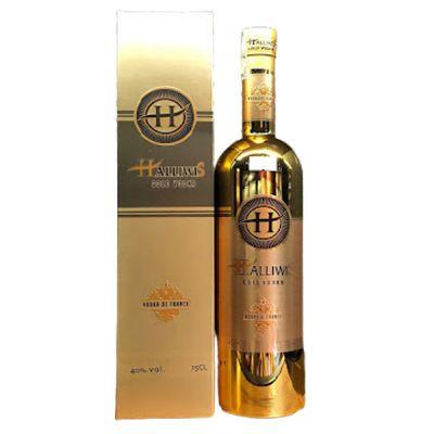 Rượu Vodka Halliwis Gold Pháp màu vàng
