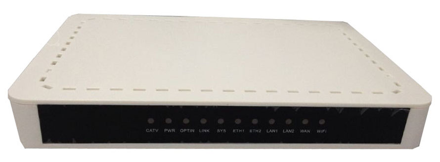 GEPON ONU with 4 x 100Mbit/s Fast Ethernet + 1 CATV (RF) port