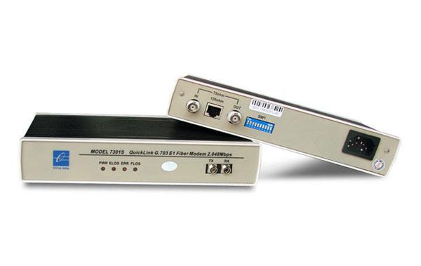 MODEL7301--E1 to Fiber Optic Modem