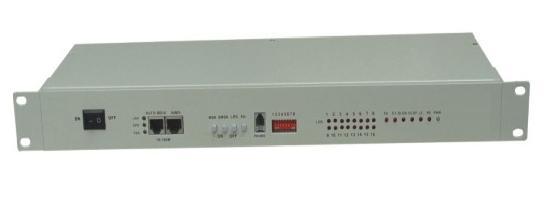 16 x E1 G.703 + 4 x Gigabit Ethernet fiber multiplexer