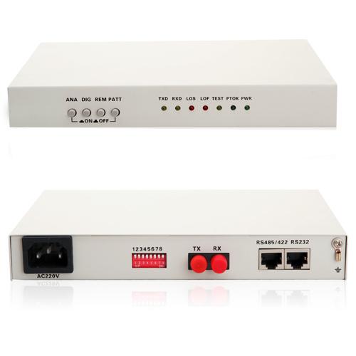 RS232 fiber modem