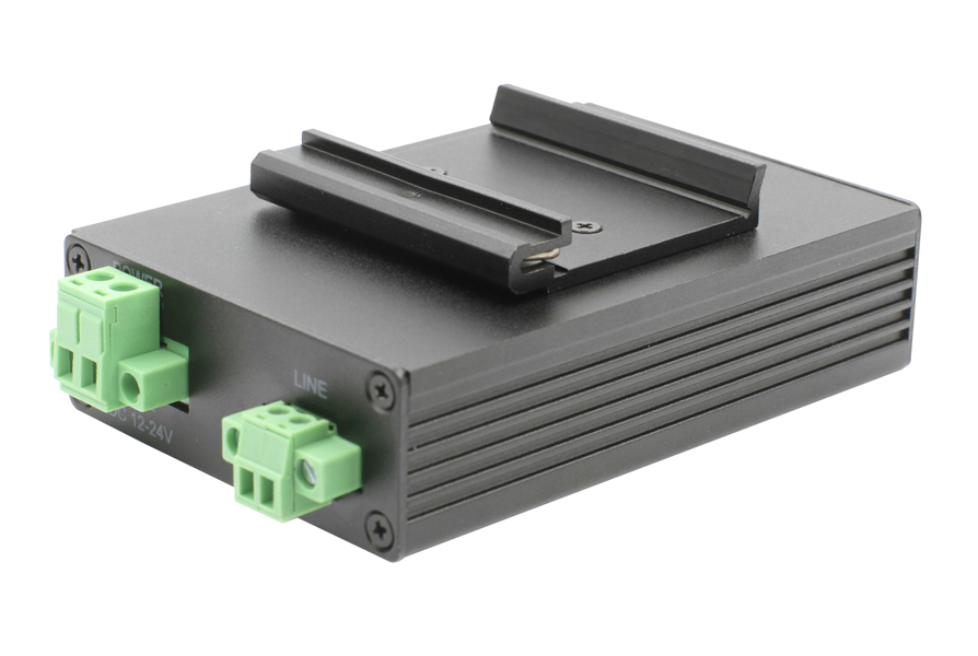 DIN-rail Mounted 2-wire Ethernet Extender up to 1000 m
