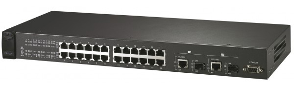 24 ports remote SNMP managed switch