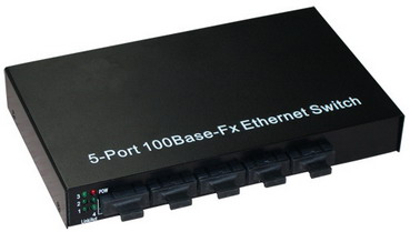 5 Port 10/100Base-Fx optical fiber ethernet switch