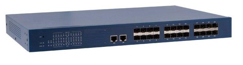Powerful Web-managed 24 Port 10/100Base-Fx optical fiber + 2 Port gigabit copper ethernet switch