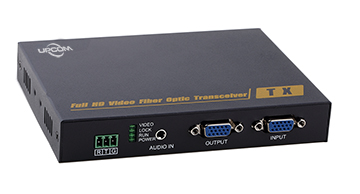 VGA To Fiber Converters with 1 audio+1 RS232 VGA0111