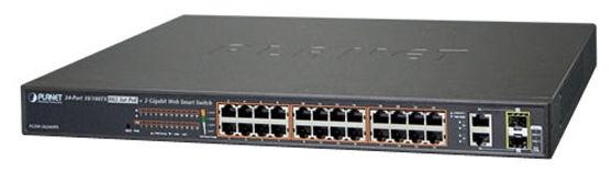 24 Cổng 10/100 TX 802.3at PoE + 2 Cổng Gigabit TP / SFP Kết hợp Web Chuyển mạch Ethernet Thông minh - FGSW-2624HPS / FGS