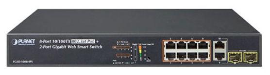 8 Cổng 10/100 TX 802.3at PoE + 2 Cổng Gigabit TP / SFP Combo Công tắc thông minh Web - FGSD-1008HPS