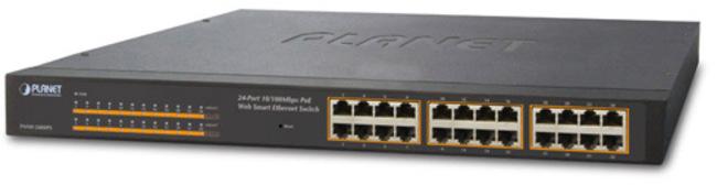 Bộ chuyển mạch Ethernet thông minh PoE Web 24 / 100Mbps tốc độ 10 / 100Mbps FNSW-2400PS