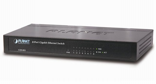 Bộ chuyển đổi Gigabit Ethernet 8-Port / 100 / 1000Mbps trên máy tính để bàn (Internal Power) GSD-805