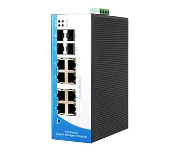 Switch công nghiệp 8-port 10/100/1000M Base-T (x) + 4 gigabit SFP slots Managed. IES3012G-8G-4GS
