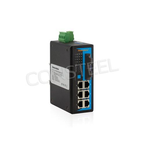 switch công nghiệp 6-port 10 / 100M Ethernet + 2 cổng 100Base-FX quản lý chuyển đổi WEB. IES308-2F