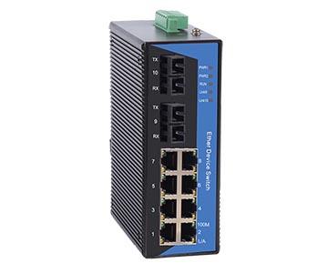 Switch công nghiệp 8 cổng 10/100M Base-T(X) + 2 cổng 100Base-FX. Model: IES4010-2F