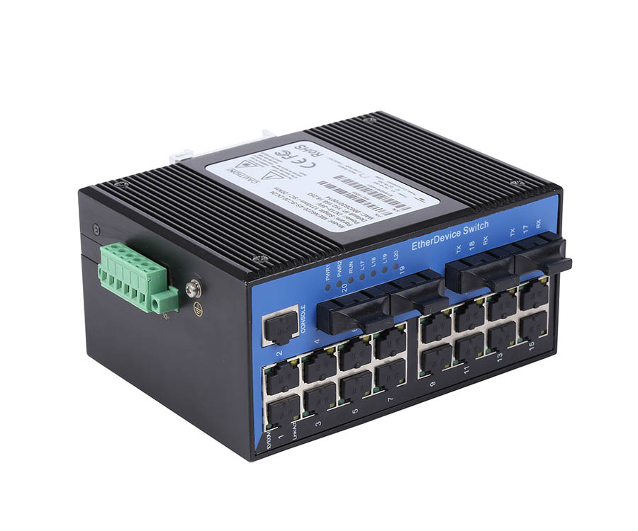 Switch Công Nghiệp 16 Cổng Ethernet 10/100M + 4 Cổng Quang 100BaseFx. Model: IES3020-4F