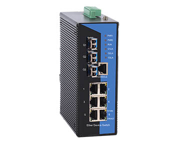 Switch Công Nghiệp 6 Cổng Ethernet 10/100M + 3 Cổng Gigabit SFP. Model: IES3009-3GS