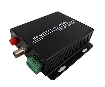 1 channel AHD/CVI/TVI to fiber converter (720P) with 1ch RS485 data