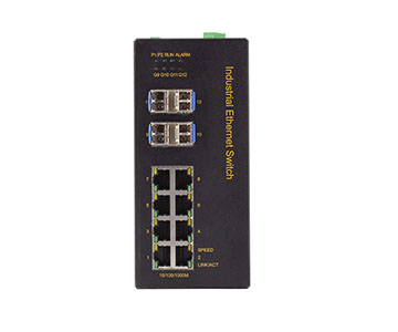 Bộ chuyển mạch Ethernet cấp công nghiệp, hỗ trợ 8 cổng Gigabit Gigabit +4 cổng Gigabit SFP được Quản Lý IES3012G-8G-4GS
