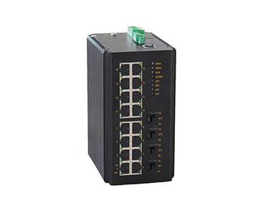 Bộ chuyển mạch Ethernet cấp công nghiệp  hỗ trợ các cổng 16 S / 10M Gigabit +4 Gigabit SFP 16 cổng được Quản Lý IES3020-4GS