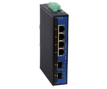 Bộ chuyển mạch Ethernet công nghiệp cung cấp 4 cổng Gigabit Gigabit + 2 cổng Gigabit SFP không được Quản Lý (IES406G-4G-2GS)