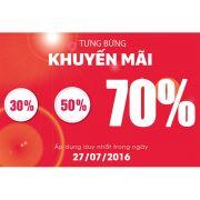 KHUYẾN MÃI LÊN ĐẾN 70% - MỪNG SINH NHẬT HOBBY