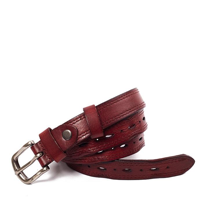 Thắt lưng da nữ Goat khóa kim dây lỗ dẹp DN-048 màu nâu đỏ