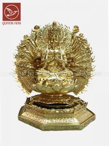 Tượng Phật Nghìn Mắt Nghìn Tay - Dát Vàng 24k