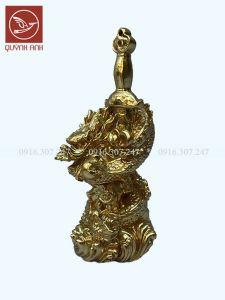 Tượng Rồng Quấn Kiếm - Dát Vàng 24k