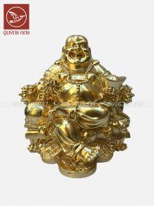 Tượng Phật Di Lạc Để Xe Oto - Dát Vàng 24k
