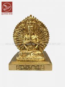 Tượng Phật Nghìn Mắt Nghìn Tay Để Xe Oto - Dát Vàng 24k