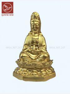 Tượng Phật Bà Để Xe Oto - Dát Vàng 24k