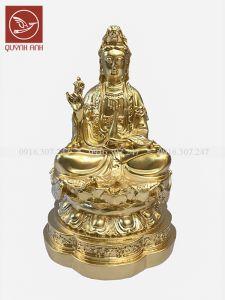 Tượng Phật Bà Quan Âm Để Xe Oto - Dát Vàng 24k