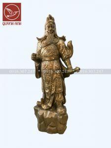 Tượng Quan Công Khảm Tam Khí  - Cao 153 cm