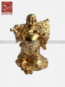 Tượng Phật Di Lạc Gánh Bị - Dát Vàng 24k