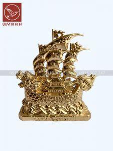 Thuyền Rồng - Dát Vàng 24k