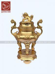 Mẫu Đỉnh Đồng - Dát Vàng 24k