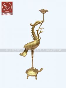 Mẫu Hạc Đồng - Dát Vàng 24k