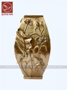 Lọ Hoa Đồng Vàng - Mẫu 4