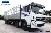 Xe tải Trường Giang 5 chân 21 tấn 8 thùng khung mui bạt DFM YC11TE10X4/KM
