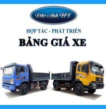 Bảng giá xe tải ben Trường Giang Đông Phong 03/2019