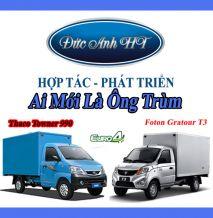 So sánh xe tải nhẹ Foton Gratour T3 và Thaco Towner 990