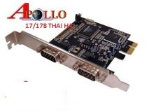 PCI Express PCI-e x1 To 2 Port Serial RS-232