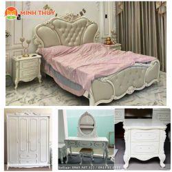 bộ phòng ngủ tân cổ điển khung nhập cao cấp(CB-33)