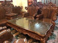 Sofa tân cổ điển gỗ Mun đuôi công