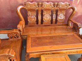 Bàn ghế phòng khách - Quốc voi tay 10 Gỗ LIm