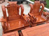Bàn ghế phòng khách Tần thủy hoàng gỗ hương đá (BG-11)