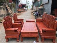 Bàn ghế phòng khách - Bộ Sơn Thủy Gỗ hương đá (BG-15)
