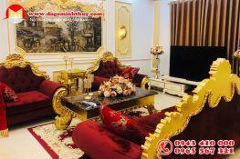 Sofa tân cổ điển dát vàng (AD-02)