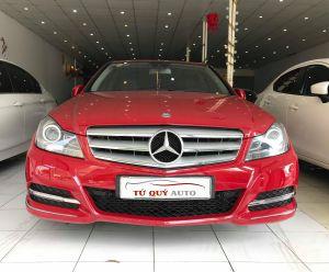 Xe Mercedes Benz C200 1.8AT 2012 ĐK 2013 - Đỏ