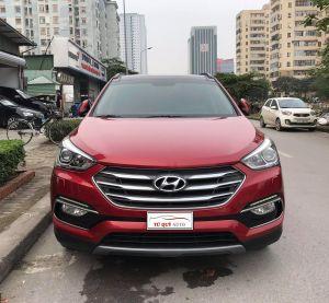 Xe Hyundai Santa Fe 2.4AT 4WD 2017 - Đỏ