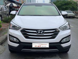 Xe Hyundai Santa Fe 2.4AT 4WD 2015 - Trắng